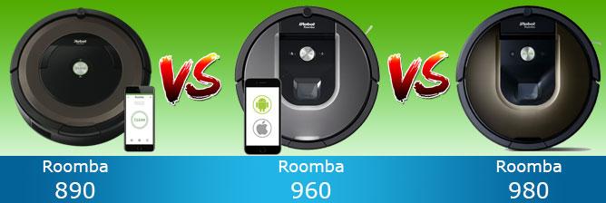 roomba 890 vs 960 vs 980