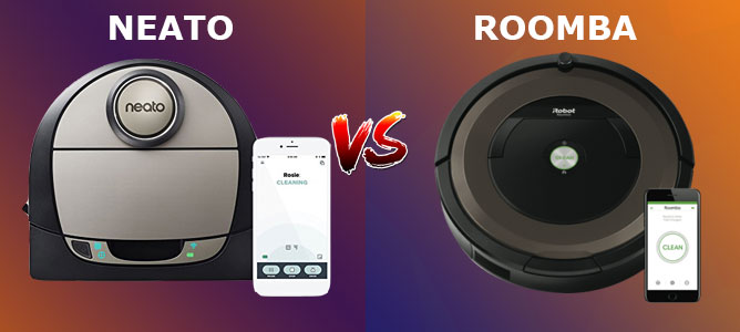 Neato vs. Roomba
