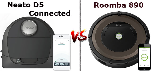 Roomba 890 vs. D5 Connected
