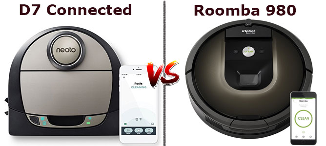 Roomba 980 vs. D7 Connected