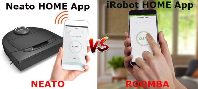 iRobot HOME App vs. Neato HOME App