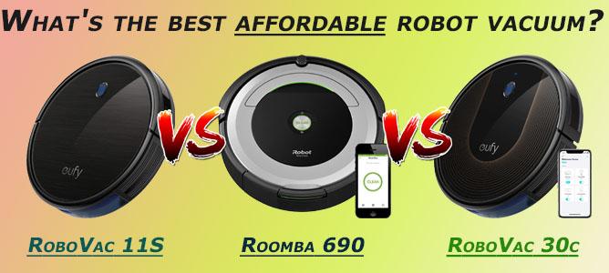 Eufy RoboVac 11S (Slim) vs Eufy 30c vs Roomba 690