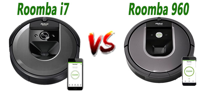 Roomba i7 vs Roomba 960