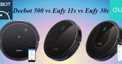 Deebot 500 vs Eufy 11s vs Eufy 30c