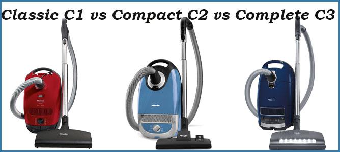 Miele Classic C1 vs Compact C2 vs Complete C3