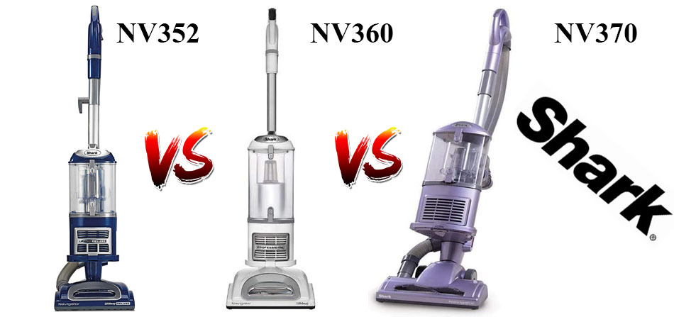 Shark NV352 vs. NV360 vs. NV370