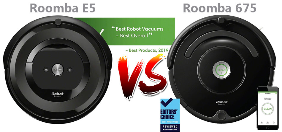 Roomba E5 Vs 675 Face To Face Comparison And Reviews