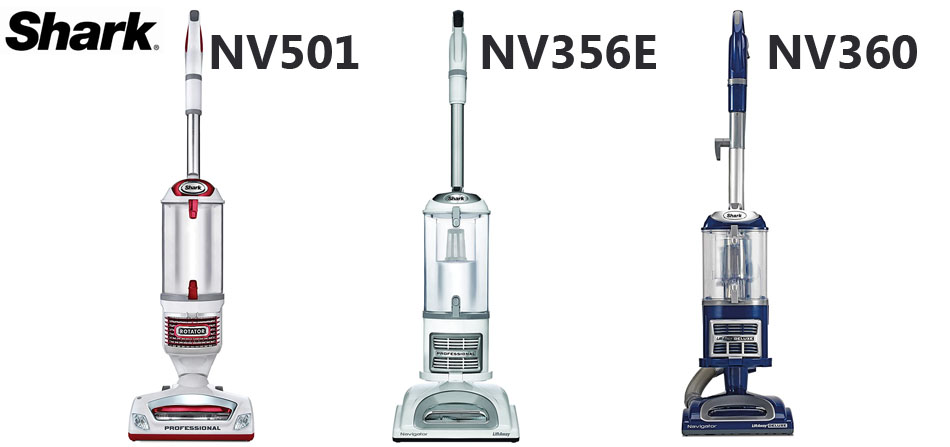 Design Shark NV360 vs NV356E vs NV501