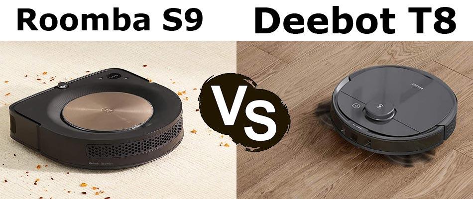 Deebot Ozmo T8 vs Roomba S9